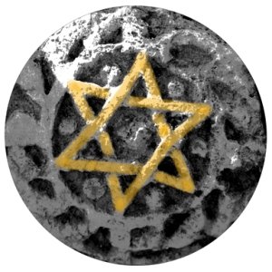 Magen David (star of David) etched in stone, Israel